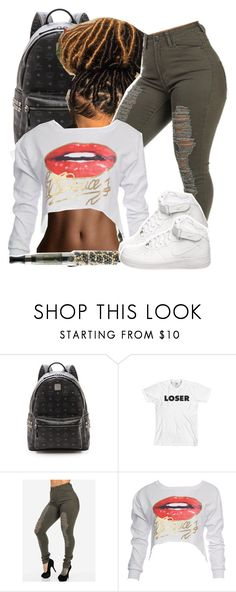 """""""....."""" by queen-tiller ❤ liked on Polyvore featuring MCM, xO Design and NIKE"""