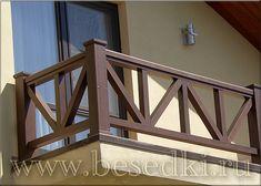 Patio Railing, Balcony Railing Design, Wood Railing, Fence Design, Patio Design, Exterior Design, Pergola, Balustrades Avant, Front Porch Remodel