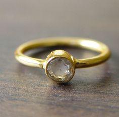 Round White Topaz Ring