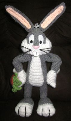 Super Cute handmade Bugs Bunny Amigurumi Crochet doll by JNArts, $80.00
