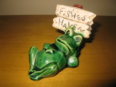 vintage aquarium decor  ornament frog by oakiesclaptrap on Etsy