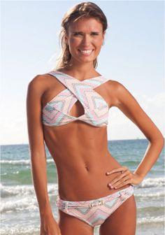 Scribble Cross Over Halter Bikini