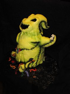 Whimsical Oogie Boogie cake from Nightmare before Christmas, BY Cake Rhapsody