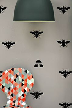 Honey Bee  WALL DECAL by TheLovelyWall on Etsy, $15.00