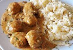 Bakonyi húsgombóc Pork Recipes, Chicken Recipes, Cooking Recipes, Pork Dishes, Pasta Dishes, Easy Delicious Recipes, Yummy Food, Hungarian Recipes, Food 52