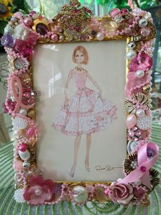 BREAST CANCER AWARENESS Embellished Frame