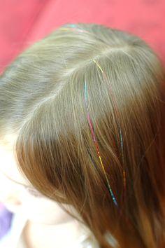 Rainbow hair tinsel