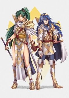 CYL Lyn and Lucina by Scribble ! : FireEmblemHeroes