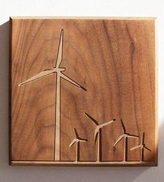 Windmills Wood Art by Dave Marcoullier on Scoutmob Shoppe #dreamweekender