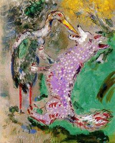 Marc Chagall & Jean de La Fontaine ~ Favole a Colori | Tutt'Art@ | Pittura * Scultura * Poesia * Musica | #MarcChagall learn more on http://www.johanpersyn.com/category/humanity/art/marc-chagall/