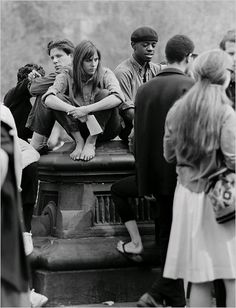 U.S. Barefoot Beatniks in Washington Square Park, Greenwich Village, NYC, in the early 1960s // by Robert Otter