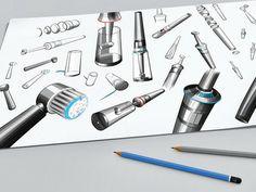 Spire BRAUN - Electric Toothbrush by Aleksandar Andreevski, via Behance Dental Design, Id Design, Sketch Design, Sketch Art, Design Concepts, Id Digital, Braun Electric Toothbrush, Conceptual Drawing, Industrial Design Sketch