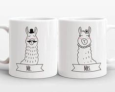 Artículos similares a Set of 2 MR and MRS Mugs Set, Cat Unicorn Couple Mugs, Unique Mr and Mrs Gift, Couples Gift, Wedding Gift, Coffee Mugs, Animal Coffee Mugs en Etsy Couple Mugs, Couple Gifts, Unicorn Cat, Mugs Set, Etsy, Wedding Gifts, Tableware, Handmade, Painting