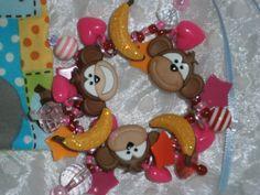 Monkey Bracelet by beadiebracelet on Etsy