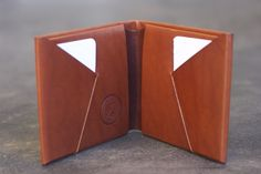 bond and knight vintage wallet, folded from a single piece of Italian leather