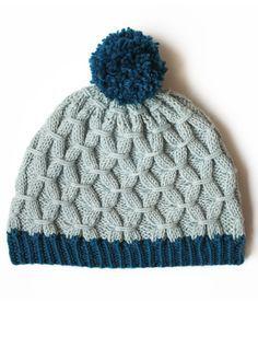 Patons Rock the Smock Hat - Patterns | Yarnspirations/ intermediate/ fits average woman's head / FREE KNITTED pattern