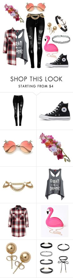 """""""Untitled #106"""" by mys-rugbjerg-risbank-jensen on Polyvore featuring Converse, Accessorize, H&M, River Island, Lulu Hun and Bling Jewelry"""