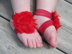 DIY No Sew baby barefoot sandle - uses elastic.  Could use stretch lace instead of dying the elastic.
