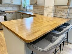 A worktop I done the other day. It was a mess with oil marks, a knife marks and a pen from children using it as a drawing board. I completely stripped it back to bare wood though using the@mirkauk and re-oiled using @osmo_ukworktop oil to finish. It's looks brand new !!