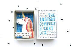 Immer sein ein Einhorn - The Instant Komfort-Pocket-Box - alles ist möglich! -jubeln-Box - magisches Einhorn