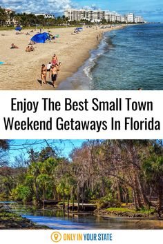 If you're looking for a Florida staycation or weekend getaway, these small towns are some of the best to travel to. They offer fun and relaxation in the summer, and all year. Honeymoon Island, Picture Postcards, Swimming Holes, Weekends Away, Sunshine State, Small Island, Summer Travel, Staycation, Weekend Getaways