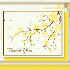 """#PlantableGreetingCards  Thank You Yellow Flowers - 5 Pack  Say """" Thank You """" with these cheerful yellow flowers!  Each card is embedded with a colorful array of Wildflower seeds.  15% Off All Easter Gift Items Use Coupon Code: bunny http://ift.tt/1WhkN1f"""