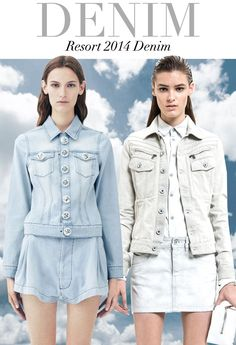 RESORT 2014 #denim trends