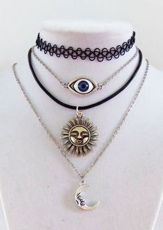 Chain tattoo or leather choker necklace with charm of your choice many to choose from custom jewelry