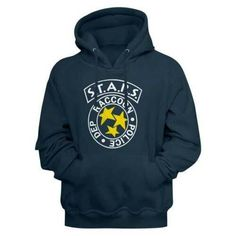 Resident Evil Rpd Stars Men's Sweatshirt With Hood Horror Movie T Shirts, Movie Tees, Funny Shirt Sayings, Shirts With Sayings, Funny Shirts, Cool Hoodies, Cool Tees, Resident Evil 2, Video Game T Shirts