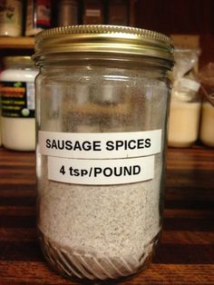 We ate so much sausage, I labeled a jar just for the spices! We ate so much sausage, I labeled a jar just for the spices! Breakfast Sausage Seasoning, Sausage Spices, Homemade Breakfast Sausage, Pork Sausage Seasoning Recipe, Sausage Gravy Mix Recipe, Breakfast Sausages, Breakfast Crockpot, Homemade Dry Mixes, Homemade Spices