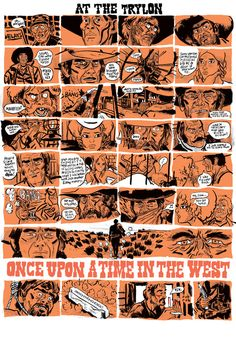 samhiti:      DEATH RATTLE      Ladies and gentlemen of the jury:Sam Hiti, I rest my case. Once Upon A Time In The West is one of my favorite movies ever, and features my very favorite movie soundtrack ever. Sam Hiti is also one of my favorites ever—if you want to have your eyeballs melted in person, pick up his amazing book Death Day, one of the weirdest, best, wildest, best books you'll read this year or any other. Read the online serialization for free here.