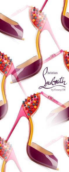 Christian Louboutin shoe art by Emmy DE