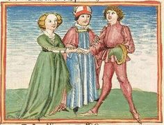 Illustrations from a 15th century German manuscript made in the workshop of Ludwig Henfflin, Stuttgart, c. 1470s
