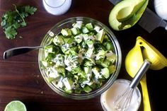 obsessively good avocado cucumber salad 9/16 I wouldn't call it obsessively good, more like OK