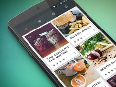 Signa Android UI Design Community — Food & Cooking application concept by Lydia Selimalhigazi