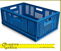 The industrial strength collapsible crate is quick and easy to assemble and disassemble. It is specially designed to have a soft and smooth rounded interior to minimise damage of product and easy to wash. Get yours from your nearest #PlasticsforAfrica branch. #Storage