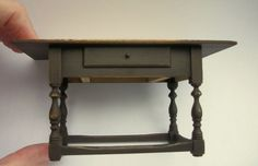 Vintage Artist Made Miniature Jim Hastrich Table Dollhouse Signed
