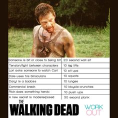 """The Walking Dead workout! Except Lori is dead now... Replace it with """"When Carl does something stupid or is missing"""" ...!"""