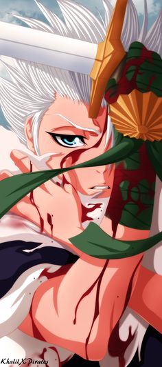 Bleach - Toshiro Hitsugaya by KhalilXPirates on deviantART Rukia Bleach, Bleach Fanart, Bleach Manga, Anime Guys, Manga Anime, Anime Art, Bleach Characters, Anime Characters, Shinigami
