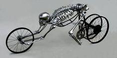 skull, bicycles, bike, ghost rider, skeletons