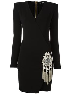 BALMAIN  glass emblem dress                                                                                                                                                                                 More