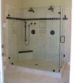 Bathroom showers glass