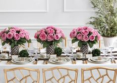 Carolina Herrera's Sophisticated Dream Reception Table Decor : Brides