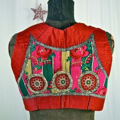 Czech Folk Vest Moravian Antique Embroidered by prettyinprague
