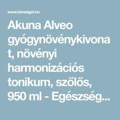 Akuna Alveo gyógynövénykivonat, növényi harmonizációs tonikum, szőlős, 950 ml - Egészségügyi panaszok | Biosziget Webáruház Kft.
