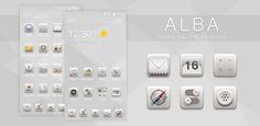 Alba Theme for CM Launcher