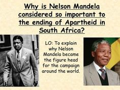 PowerPoint and worksheet lesson on the importance of Nelson Mandela in the campaign against apartheid in South Africa.