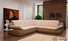 Rozkladacia rohová sedacia súprava Kaia s úložnou zásuvkou #sofa #settee #divan #couch