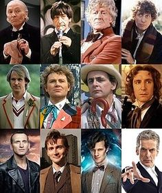 The twelve faces of the Doctor.  He gets 11 more!! :-)