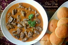 The first time I tasted peri peri chilli chicken livers was at Nandos at the Inorbit Mall, Mumbai a few years ago. Since I was not so fond of livers I Nando's Chicken, Peri Peri Chicken, Chicken Livers, Gizzards Recipe, Chicken Liver Recipes, Onion Recipes, Rice Recipes, Recipies, Appetizers
